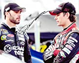 2X AUTOGRAPHED Jeff Gordon & Jimmie Johnson 2014 AARP / Lowes Racing (Hendrick Motorsports Team) 8X10 Signed Picture NASCAR Glossy Photo with COA