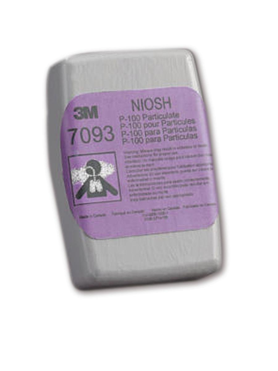 3M 50051131371731 Cartridge/Filter 7093C, Hydrogen Fluoride, P100 with Nuisance Level Organic Vapor and Acid Gas (Pack of 60)