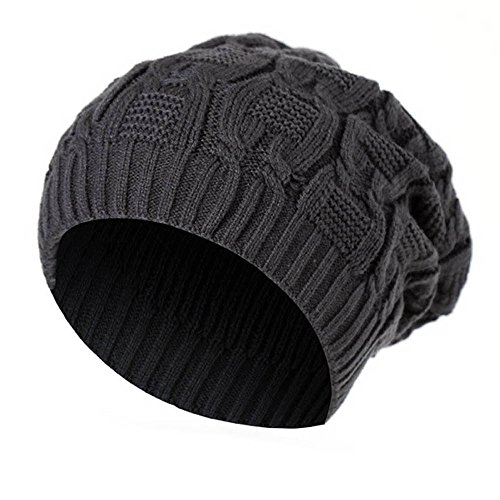 CUCUHAM Men Women Baggy Warm Winter Wool Knit Ski Beanie Caps Hat ()