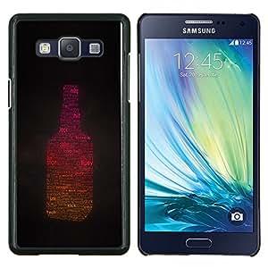 LECELL--Funda protectora / Cubierta / Piel For Samsung Galaxy A5 A5000 -- La luz del sol Tipsy Botella borracho Alcohol Parte --