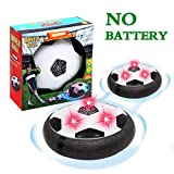 Party Music Hover Soccer Ball,Air Power Soccer with Music LED Flashing Lights,Kids Hover Ball Toys Air Power Soccer Disc Air Soccer Football for Kid Best Gifts