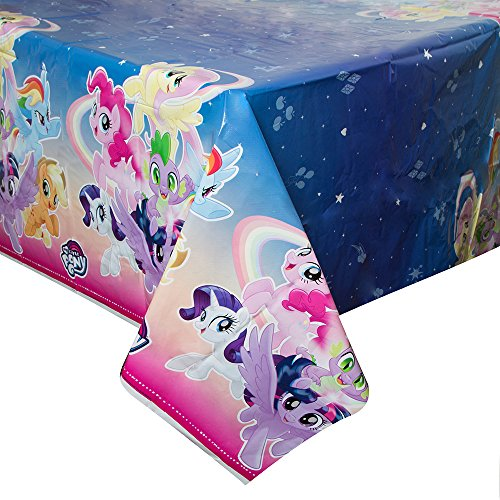 My Little Pony Table (Unique Industries My Little Pony Plastic Tablecloth, 84