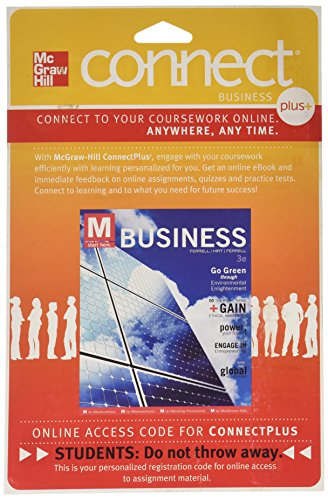Connect Plus Business With Learnsmart 1 Semester Access Card For Business