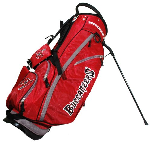 Tampa Bay Buccaneers Zippered Fleece - Team Golf NFL Tampa Bay Buccaneers Fairway Golf Stand Bag, Lightweight, 14-way Top, Spring Action Stand, Insulated Cooler Pocket, Padded Strap, Umbrella Holder & Removable Rain Hood