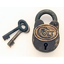 Metal Old West Colt Padlock with keys