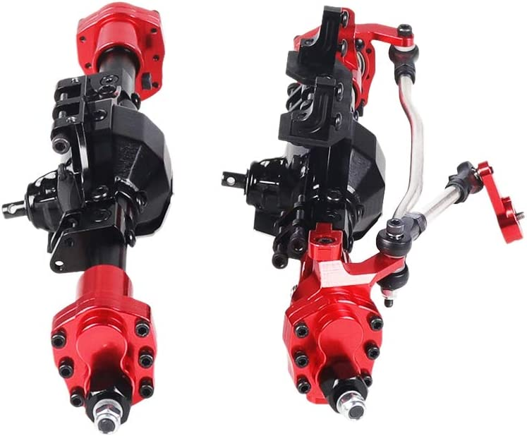 STANG Aluminum CNC Anodized Full Front Rear Portal Axle for 1//10 RC Crawler Car Axial SCX10 II 90046 90047 Upgrade Parts Black+Red