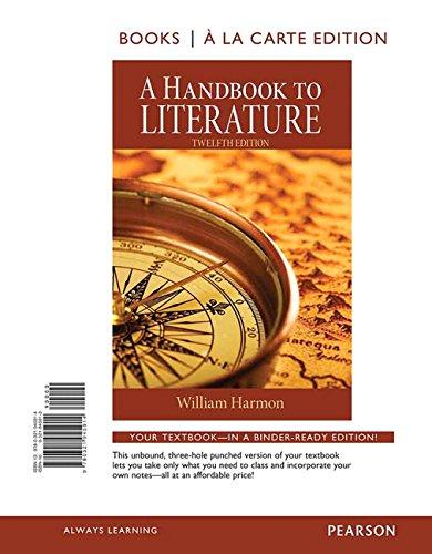 A Handbook to Literature, Books a la Carte Edition (12th Edition)