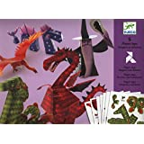 Djeco / Folded Paper Toy Kit, Dragons and Chimeras
