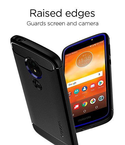 Spigen Rugged Armor Moto E5 Play Case with Flexible and Durable Shock Absorption with Carbon Fiber Design for Motorola Moto E5 Play (2018) - Black by Spigen (Image #6)