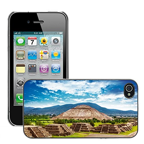 Premio Sottile Slim Cassa Custodia Case Cover Shell // V00002647 Pyramides du Mexique // Apple iPhone 4 4S 4G