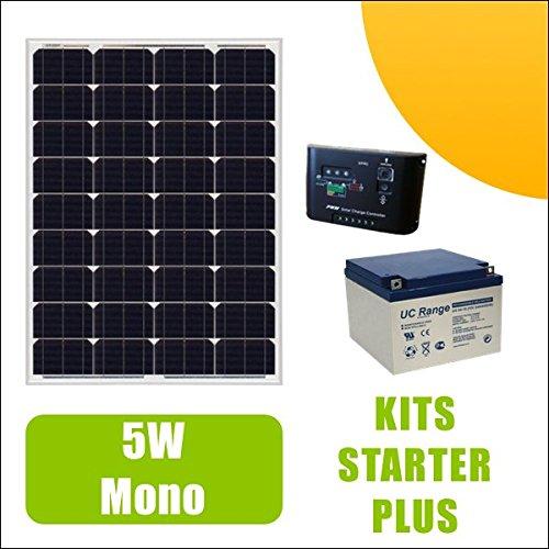 Kit fotovoltaico de 5 W a 12 V