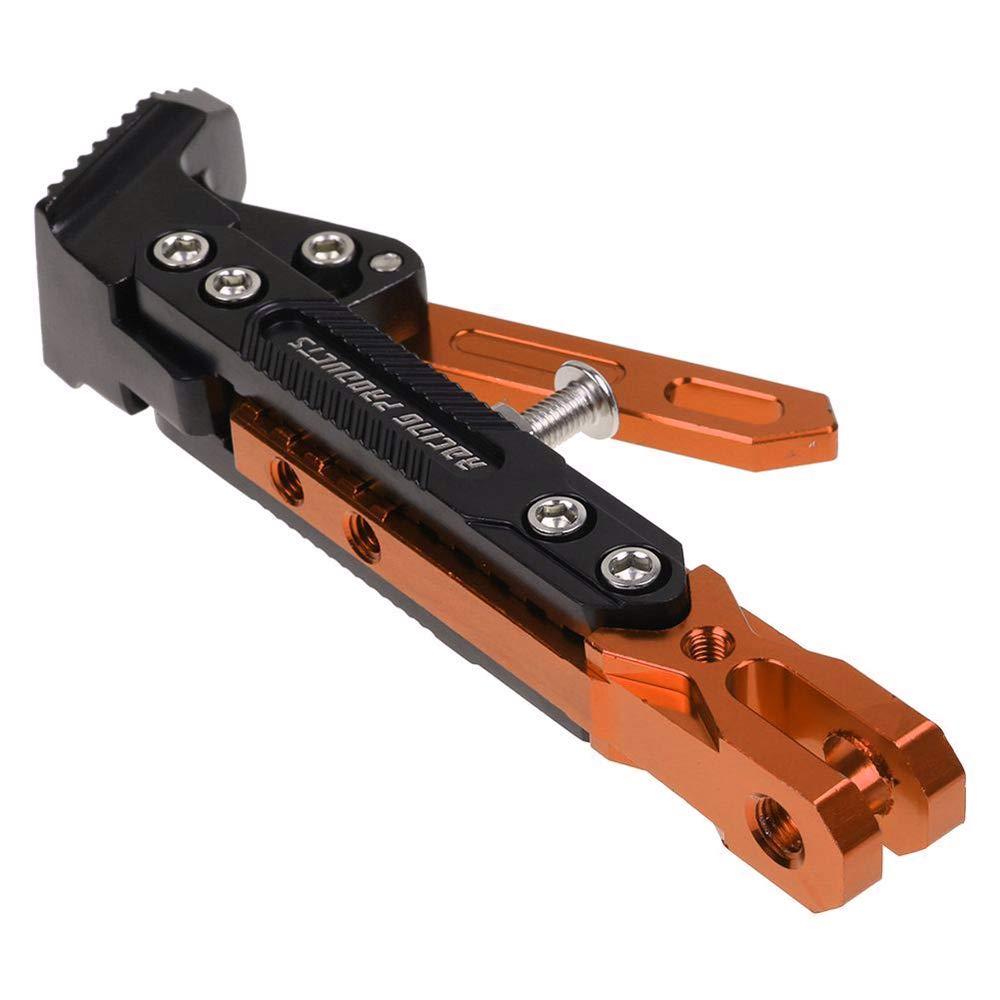 KKmoon CNC en Aluminium Alliage Hauteur B/équille Lat/éral R/églable C/ôt/é Tr/épied Support Porte-Pied pour Moto