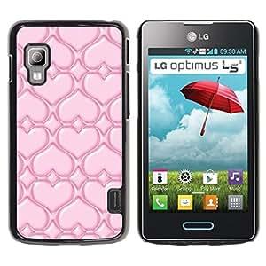 Be Good Phone Accessory // Dura Cáscara cubierta Protectora Caso Carcasa Funda de Protección para LG Optimus L5 II Dual E455 E460 // Pink Love