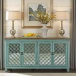 Liberty Furniture Industries Kensington 4 Door Accent Cabinet, W72 x D17 x H37, Blue