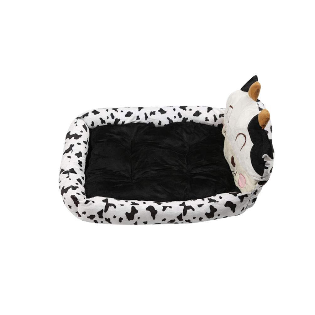 YiiJee Cuccia Cuscini Rettangolare Cuscino per Cani Divano Letto per Cane Gatto Pet Animali Caldo Comodo Nero S