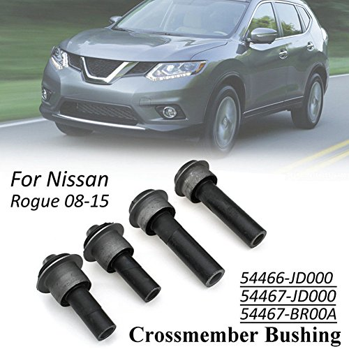 WayJun Front Engine Cradle Subframe Crossmember Bushing Kits for Nissan  Rogue Select X-Trail T31 Juke F15 lEAF ZE0 Replace 54466-JD000 54467BR00A