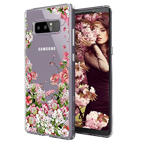 new concept e65cd 7605b MOSNOVO Galaxy Note 8 Case, Galaxy Note 8 Clear Case, Girl Floral Garden  Wild Flower Printed Clear Design Transparent Plastic Back Phone Case with  TPU ...