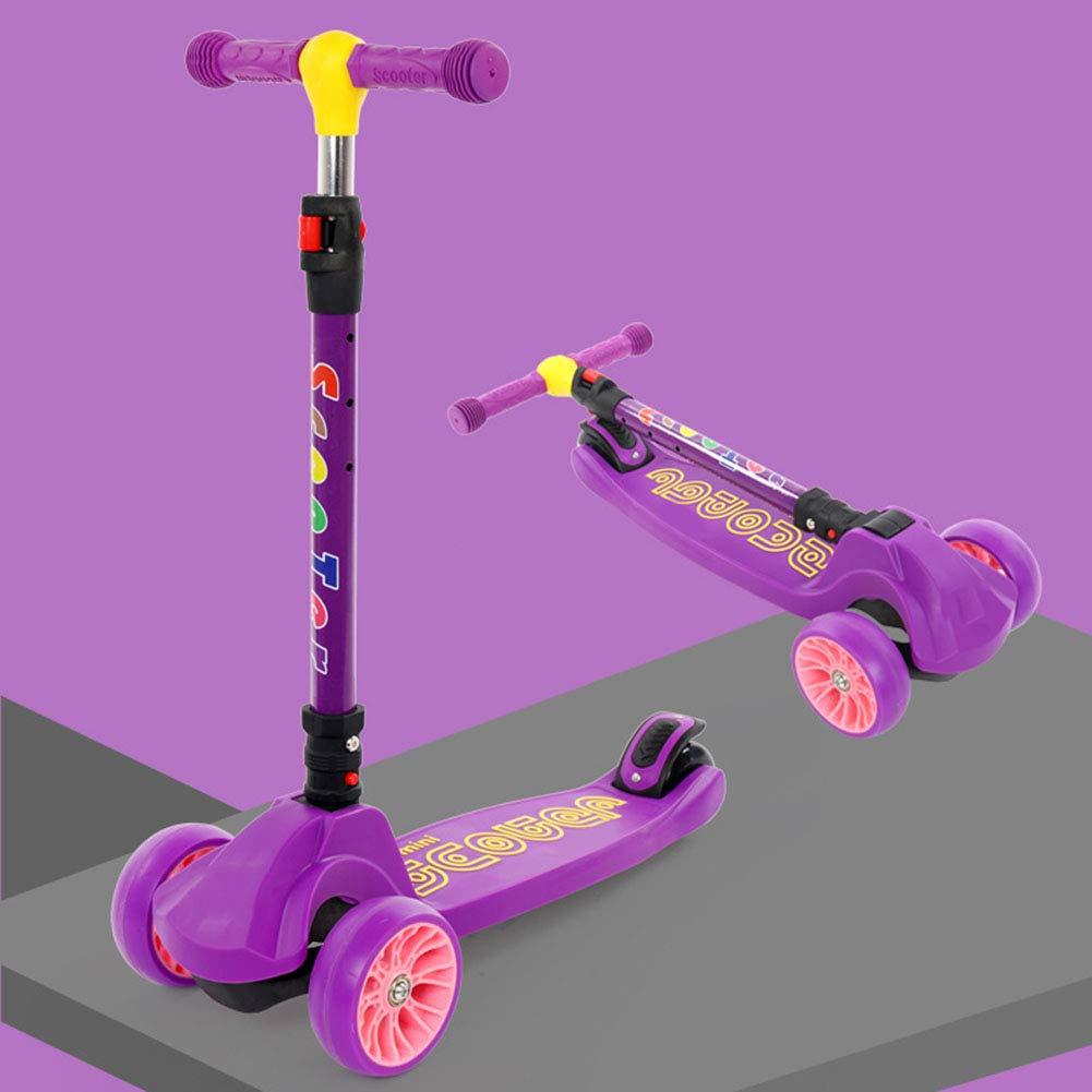 tienda de venta YUANLAISHINI Scooter para para para niños, Scooter Plegable, Alturas Ajustables (64Cm   73Cm   84Cm), con Rueda de Destello de PU, Manejo por Gravedad, Aptitud para niños, Peso del cojinete 100Kg,A3  Venta al por mayor barato y de alta calidad.