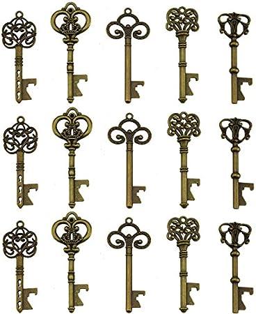 Los abridores de botellas clave están hechos de aleación de metal, miden 7cm a 9cm de largo. Cada cl
