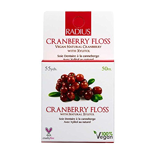 Radius Cranberry Coated Dental Floss, 50 Meter -- 6 per case.