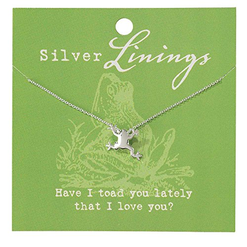 Jozie B Have I Told You Lately That I Love You Frog Silver-Plated 18-Inch Pendant Necklace -