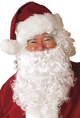 Santa Beard And Wig Set (Rubie's Men's Value Santa Beard and Wig Set, White, One Size)
