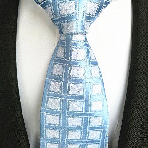 tie blue white collar with lattices FYios Men's light SRqwxw54XO