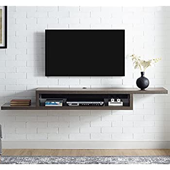Martin Furniture IMAS370S Asymmetrical Floating Wall Mounted TV Console,  72