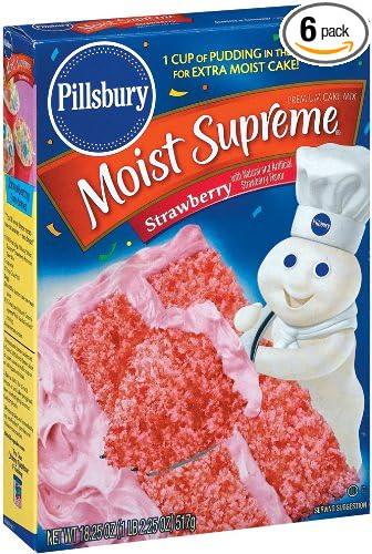Pillsbury Moist Supreme Strawberry Cake Mix 18 25oz Box Pack Of 6