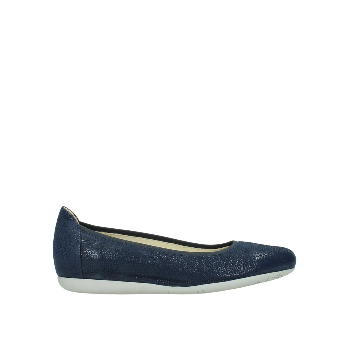 Wolky Comfort Ballet Pumps Tampa B079M8ZN82 41.5 EU|20800 Blue Leather