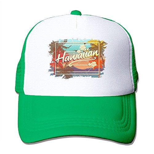 Baodaoo Classic Mesh Back Trucker Hats Vintage Hawaiian Islands Mesh Hat Adjustable Hats For Adults And Kids