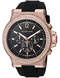 Michael Kors Men's 'Dylan' Quartz Stainless Steel and Silicone Casual Watch, Color:Black (Model: MK8557)