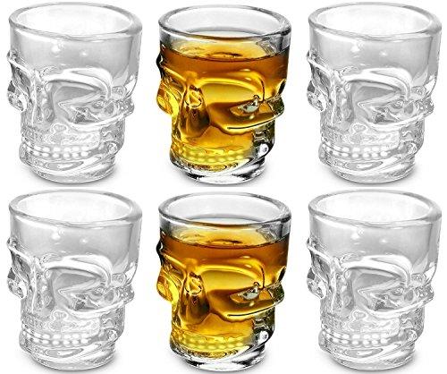 KOVOT Skull Shot Glasses Clear