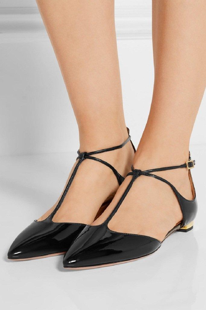 Kolnoo Damen Faschion schwarz Handgefertigte J-Strap D'orsay Spitz-Fuß-Schuhe schwarz Faschion 79a979