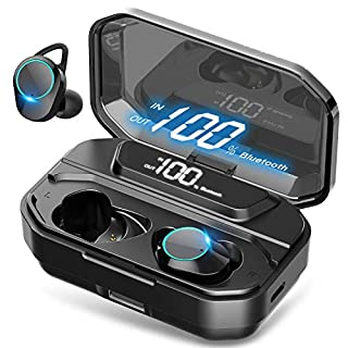 [Xmythorig Ultimate] True Wireless Earbuds Bluetooth 5.0 Headphones, IPX7 Waterproof Earphones for Sports, 110H Playtime w/ 3300mAh Charging Case, 3D Stereo Audio Touch Control in-Ear Headset w/Mic