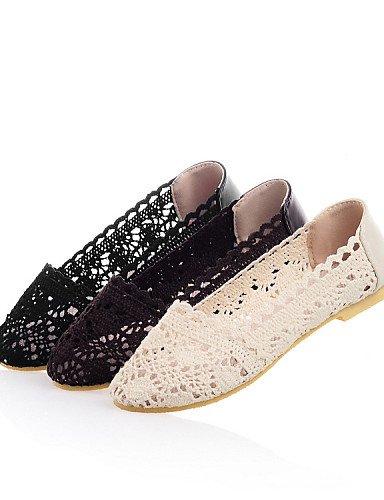 comodidad 5 cn38 mujer zapatos pisos talón uk5 vestido us7 PDX aire 5 plano marrón beige negro al casual black cuero sintético de eu38 libre SE0qg