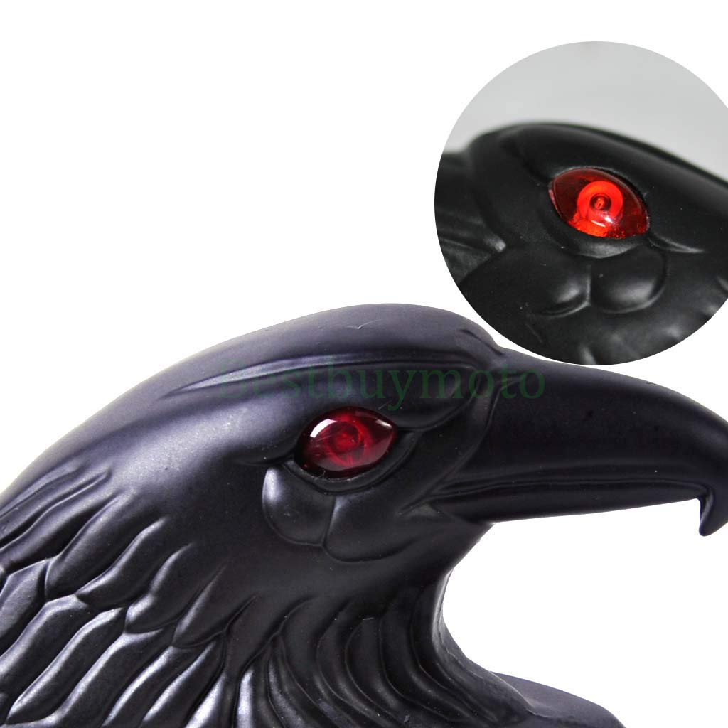 Chrome Black Metal Eagle Head Fender Ornament Statue fit Motorcycle Motorbike Front Fender