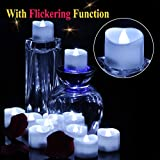 OMGAI LED Tea Lights Candles With Timer Battery Operated Candle Unscented Flameless Flickering Electric Tealight, 60+ Hours of Lighting for Home Decor, Set of 12 - Cool White