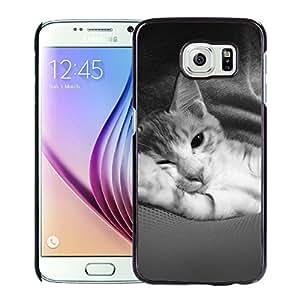 Cute Animal Cat Dark Hard Plastic Samsung Galaxy S6 G9200 Protective Phone Case
