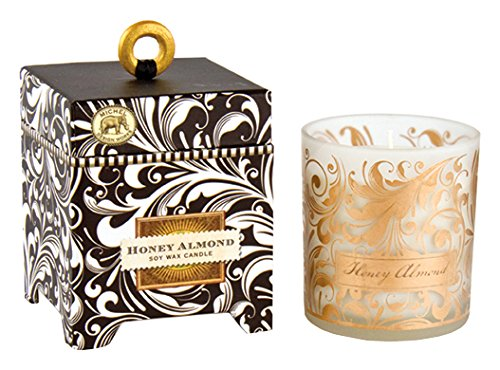 Michel Design Works Gift Boxed Soy Wax Candle, 6.5-Ounce, Honey Almond