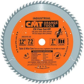 CMT 252.072.12 ITK Industrial Fine Cut-Off Saw Blade, 12-Inch x 72 Teeth 1FTG+2ATB Grind with 1-Inch Bore