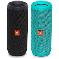 JBL Flip 4 Waterproof Bluetooth Speaker Party Pack (Black & Teal)