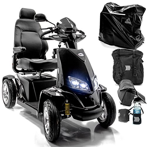 Extreme Bundle - Silverado Extreme 4-Wheel Full Suspension Electric Mobility Scooter + Challenger Accessory Bundle