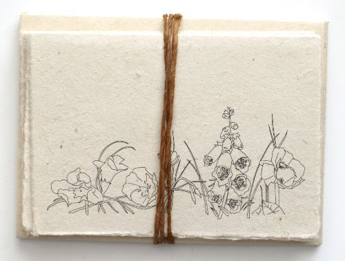 Handmade Seeded Plantable Note Cards Set of 6 (Handmade Note Card Set)