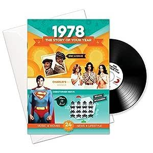 1978 Cumpleaños O Aniversario Regalos - 1978 4-en-1