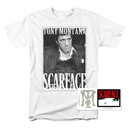 Popfunk Scarface Tony Montana T Shirt (Medium) White