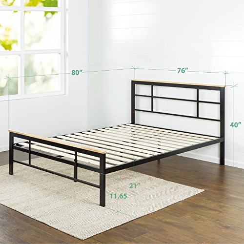 Zinus Urban Metal and Wood Platform Bed, King