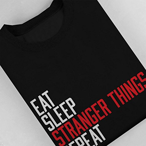 Eat Black Coto7 Sweatshirt Things Repeat Sleep Women's Stranger dBwvRxqA