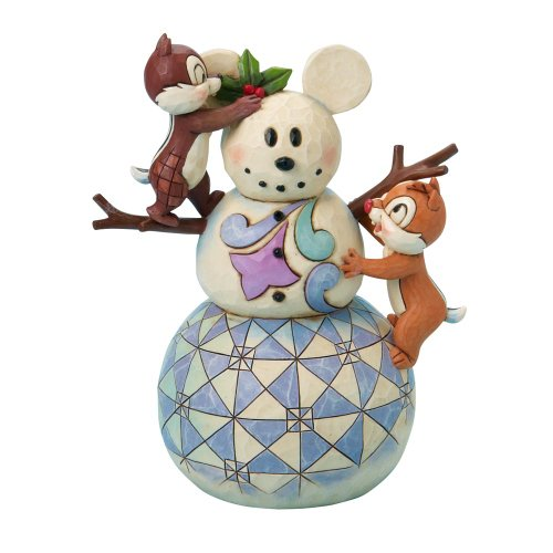 Enesco Disney Traditions by Jim Shore 4016569 Chip and Dale Making a Mickey Snowman Figurine, 7-Inch