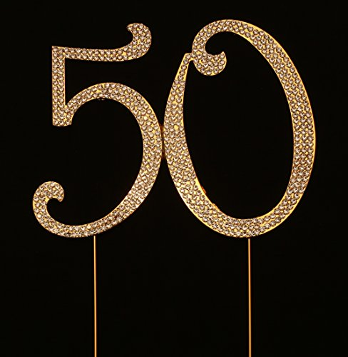 Numbrer 50 for 50th Birthday or Anniversary Cake Topper P...